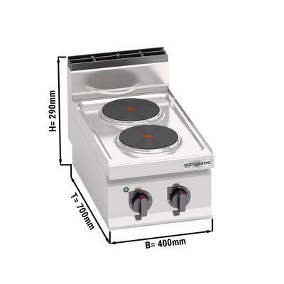 (5.2 kW)موقد كهربائي مزود برأسين دائريين