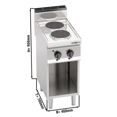 Electric stove 2x plates round (5.2 kW)