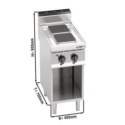 Electric stove 2x plates rectangle (5,2 kW)