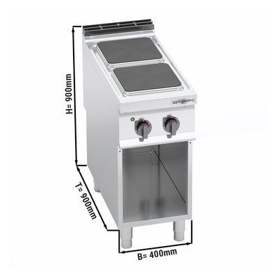 Elektroherd 2xPlatten Eckig (7 kW)