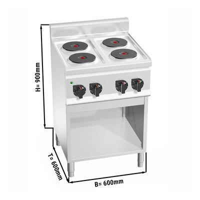 Electric stove 4x plates round (8 kW)