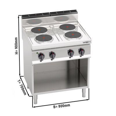 Electric stove 4x plates round (10.4 kW)