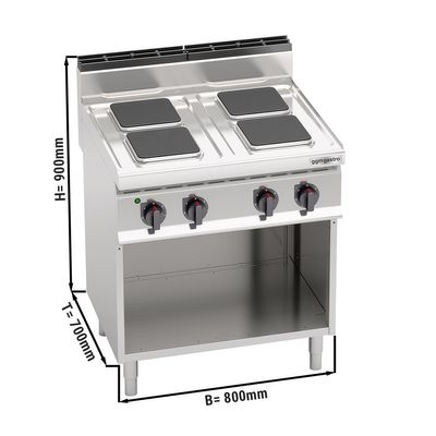 Electric stove 4x plates rectangle (10.4 kW)