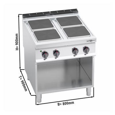 Elektroherd 4xPlatten Eckig (14 kW)