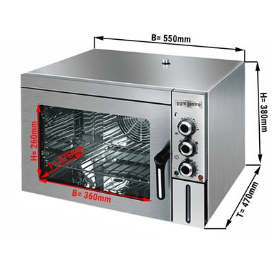 Steam oven - 30 liters - Stainless Steel