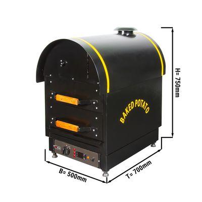 Elektro Kumpir Kartoffelofen - mit 2 Schubladen - 500 x 700 x 750 mm