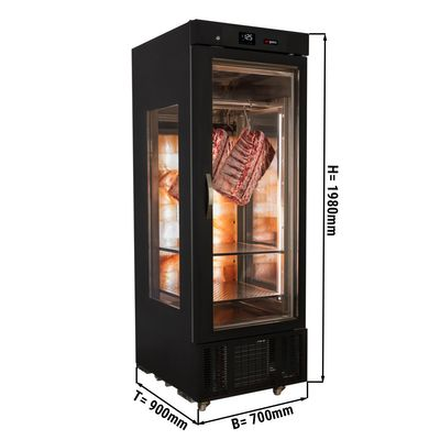 Meat maturing cabinet - 0.70 m - with 1 shelf - Black