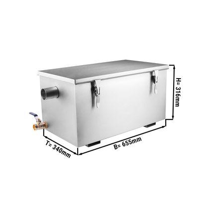Fettabscheider - 20 Liter | Ölabscheider | Fettseparator | Abscheider | Gastronomie