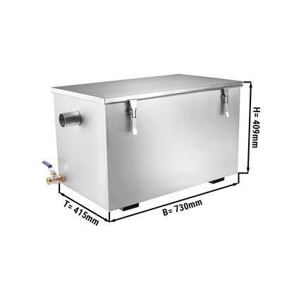 Fettabscheider - 44 Liter | Ölabscheider | Fettseparator | Abscheider | Gastronomie