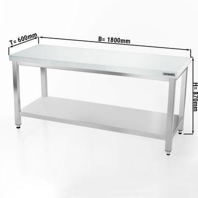 Fleischereitisch PREMIUM - 1,8 m - Arbeitsplatte 40 mm