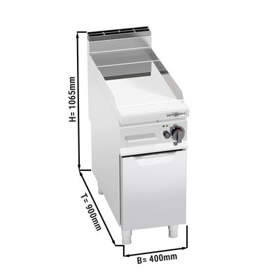 Gas Bratplatte - Glatt - mit glänzendem Finish (10 kW)