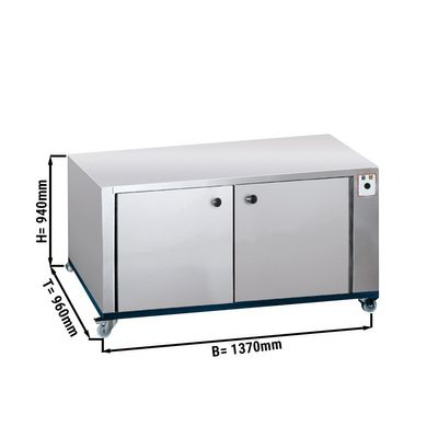 Proofer 6 + 6 for 14 trays 60 x 40 cm