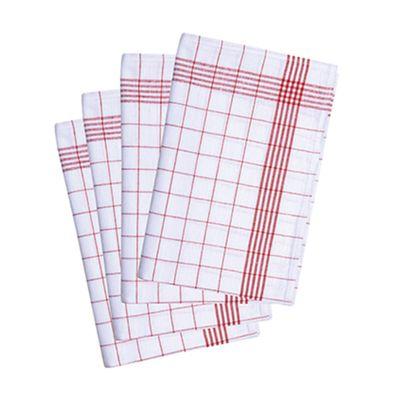 (10 Stück) Geschirrtuch - 50 x 70 cm - Rot