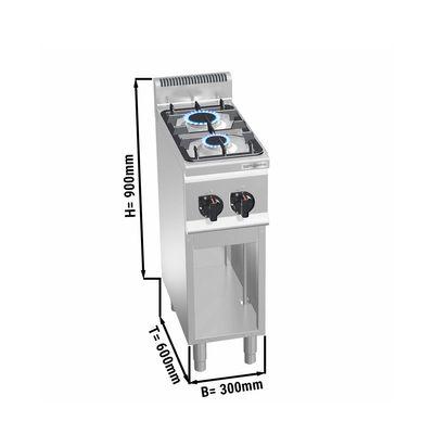 Gas stove 2x burners (6.2 kW)