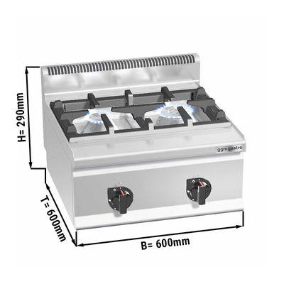 Gas stove 2x burners (10.5 kW)