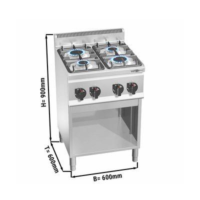 Gas stove 4x burners (12.4 kW)