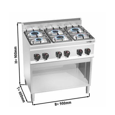 Gas stove 6x burners (18.6 kW)