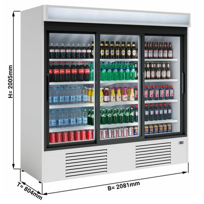 Beverage refrigerators/ cooler  1600 litres - with 3 doors
