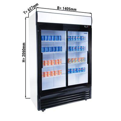 مبرد مشروبات - 1000 لتر - بابين منزلقين من الزجاج