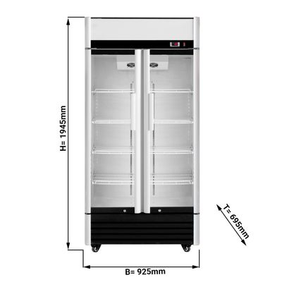 Beverage refrigerators/ cooler  0,92 x 0,69 m - with 2 doors