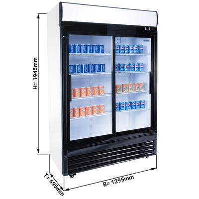 Beverage refrigerators/ cooler  1,29 x 0,76 m - with 2 glasssliding doors