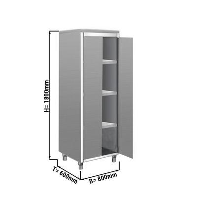 Geschirrschrank ECO - 0,8 m - 2 Flügeltüren - 1,8 m - Hoch