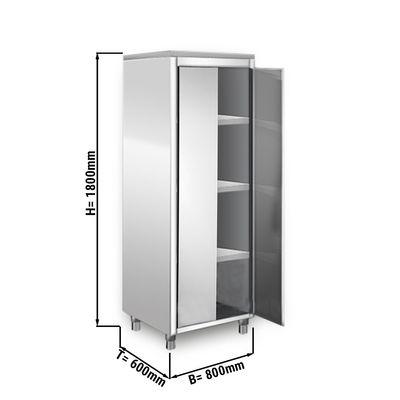 Geschirrschrank - 0,8 m - 2 Flügeltüren - 1,8 m - Hoch