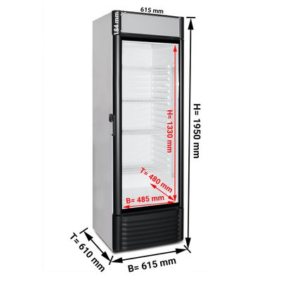 Beverage refrigerator 0,61 x 0,61 m ECO - 1 with glass doors