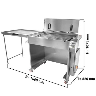 Semi-automatic donut fryer / fat baking device - capacity: 360 pieces / h