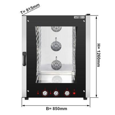 10xGN 1/1 & EN 40 x 60 cm فرن بالهواء الساخن كهربائي