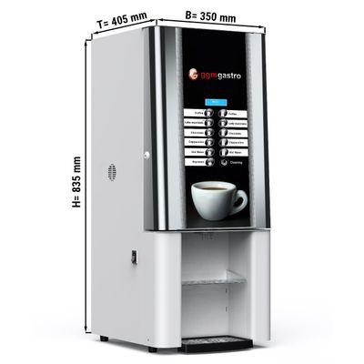 Heißgetränkeautomat / Kaffeeautomat - weiß - mit 4 Pulverbehältern
