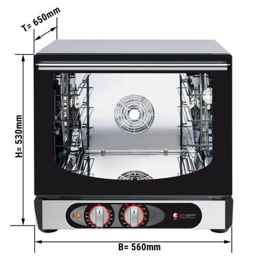 Electric convection oven (manual) - 4x trays