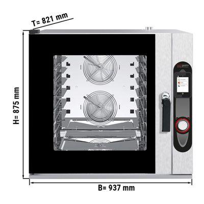 Kombidämpfer Touchscreen inkl. Halterung 6x EN 40 x 60 cm - inkl. Selbstreinigung