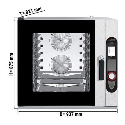 7 x GN 1/1 فرن رقمي مختلط  مع قاعدة و نظام التنظيف الاتوماتيكي