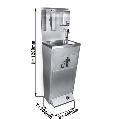 Hand washing sink made from stainless steel | Washing station