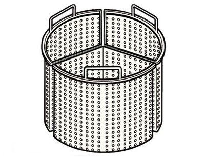 3x 1/3 Korb für Kochkessel mit 200 Liter