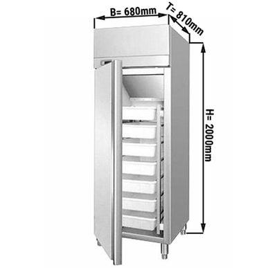 Fischkühlschrank ECO - 0,68 x 0,81 m - 529 Liter - mit 1 Tür