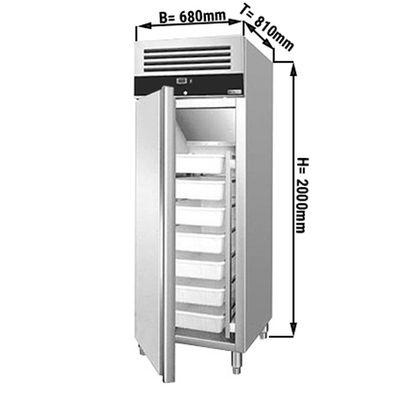Fischtiefkühlschrank - 0,68 x 0,81 m - 529 Liter - mit 1 Tür