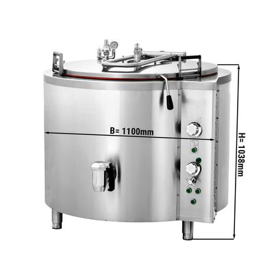Elektro Kochkessel - 400 Liter - Indirekte Beheizung