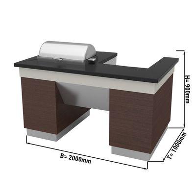 Kochstation / Zubereitungstisch - 2,0 x 1,0 m