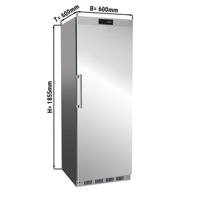 Refrigerator made of stainless steel - 400 litres - with 1 door