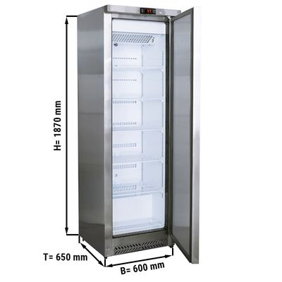 Refrigerator made of stainless steel – 239 liters - with 1 door