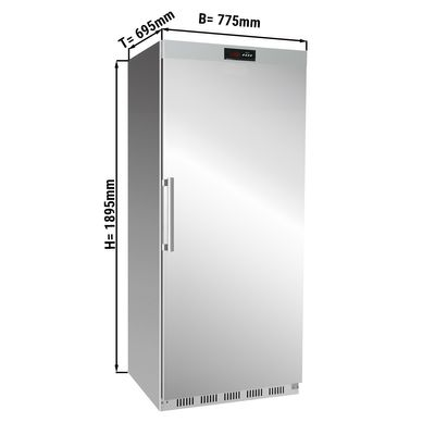 Freezer made of stainless steel - 600 litres - with 1 door