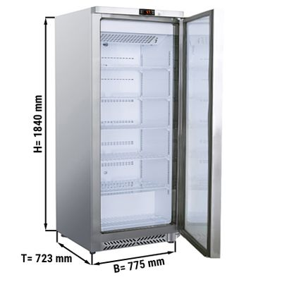 Refrigerator made of stainless steel - 590 liters - with 1 door