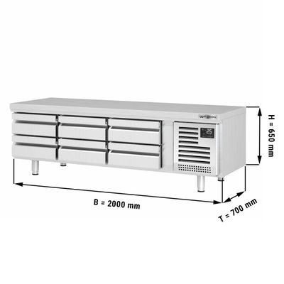 Refrigerated substructure (GN) with 6 drawers 1/3