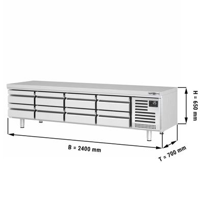 Refrigerated substructure (GN) with 8 drawers 1/3