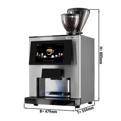 Fully-automatic coffee machine - 1 litre - black/ silver