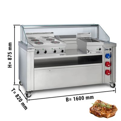 Mobile cooking station-included. Electric January & Bainmarie