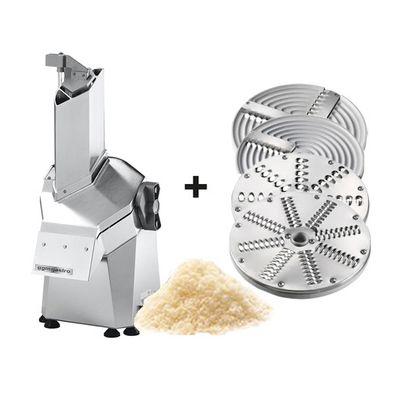 Mozzarellaschneider -Kapazität: 250 - 300 kg/ h inkl. Schneide- & Reibescheiben