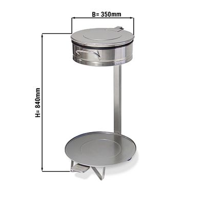 Müllsackhalter - Ø 35 cm - mit Fusspedal